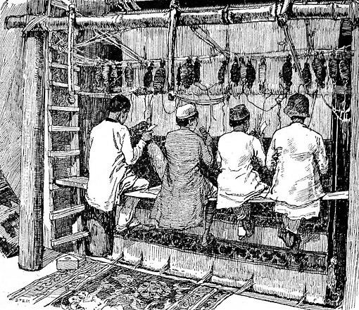 Indijski tkači na razboju u doba britanske kolonijalne vladavine