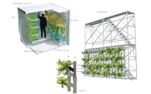 Ćelije za uzgoj, krovovi, ulične aleje, zadnja dvorišta, mikroprostori i mini zelene bašte...