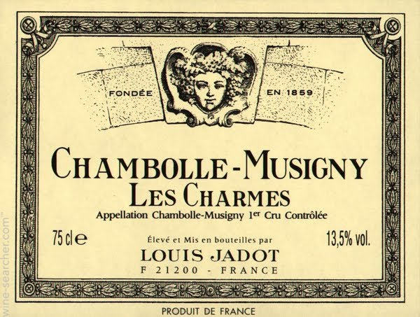 "Louis Jadot ""Les Charmes"": Chambolle-Musigny, Premier Cru"