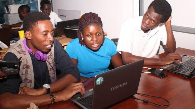 Prostor za startup saradnju Hive Co-Lab: vodeći tech-hub Kampale. Foto: BBC