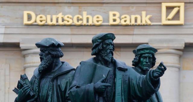 Statue ispred sedišta Dojče banke u Frankfurtu. Foto: E-financial Careers
