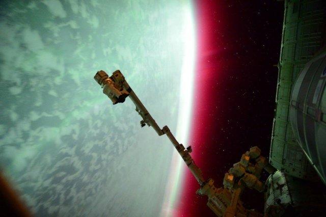 Aurora (Sunčeva korona) fotografisana sa Međunarodne svemirske stanice 23. juna, 2015 (Foto: Scott Kelly/ NASA)