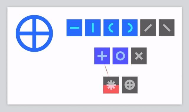 Karakter sa leve strane se filtrira kroz slojeve neuronske mreže osvetljavajući potencijalna uklapanja, sve dok na kraju jedan piksel na završnom sloju ne postane svetliji od ostalih. Bloomberg/ Reactive Inc