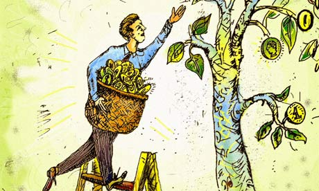 Illustration of money tree