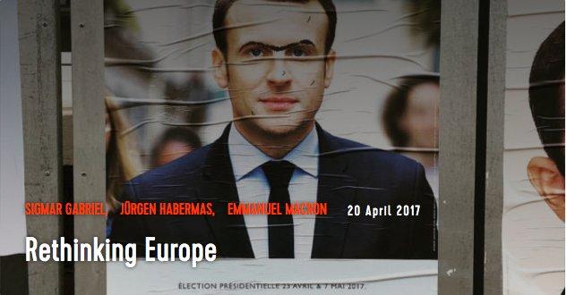 Ponovno promišljanje Evrope: Habermas/Gabriel/Makron