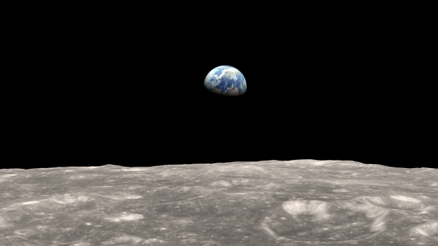 Zemlja, viđena s Meseca. Foto: NASA