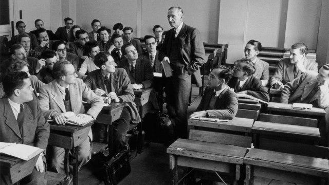Fridrih Hajek, predavač u Londonskoj školi ekonomije 1948; foto: Paul Popper/Popperfoto/Getty