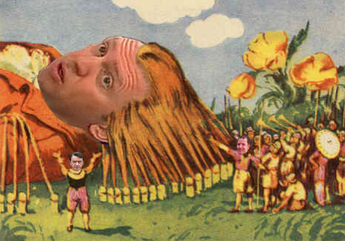 Oleg Deripaska, u formi kolaža