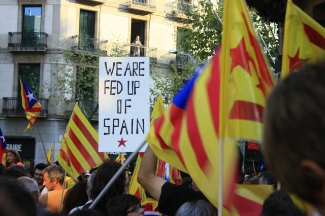 """""""Siti smo Španije"""", jedan od slogana tokom referenduma u Kataloniji"""