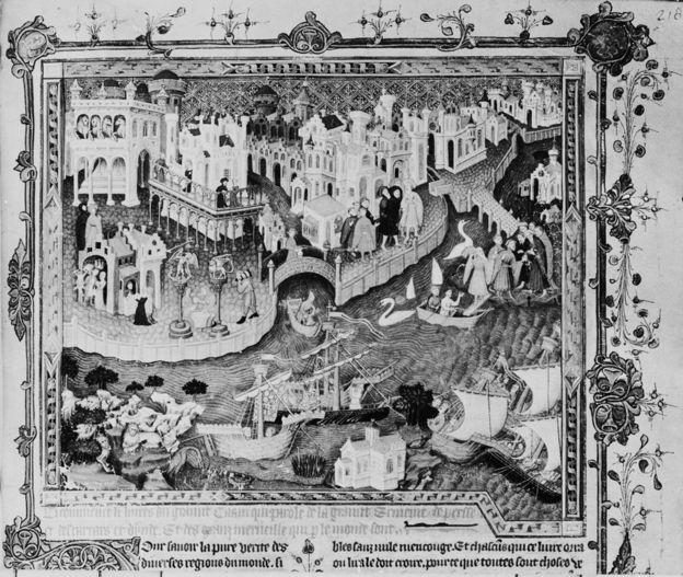 Venecija tokom XIV veka - kada je Marko Polo otkrivao Daleki istok - bilo je raskršće trgovine i ideja
