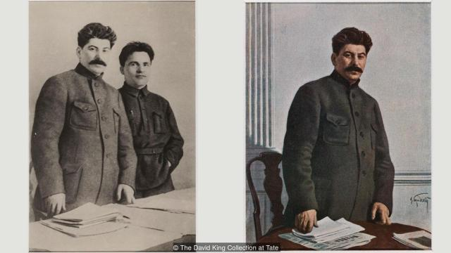 Od 1926. do 1949. godine, od pet prijatelja i saboraca ostao je na slici jedino - Staljin