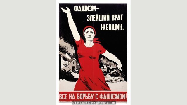 """Za ovaj sovjetski propagandni plakat s prizorom prkosne žene, Nina Vatolina je iskoristila svoju - komšinicu (""""Fašizam - najopakije zlo za žene"""", 1941)"""