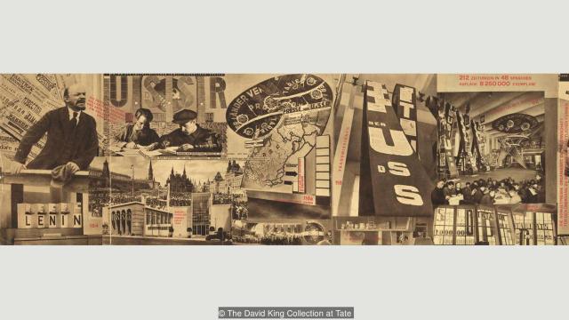 """""""Zadatak štampe je obrazovanje masa"""" (1928), slika dvojice istaknutih sovjetskih umetnika, El Lisickog i Sergeja Senkina"""