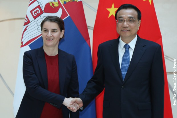 Kineski premijer Li Kećang i premijerka Srbije, Ana Brnabić