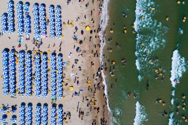 Plaža Haeundae, Busan, Južna Koreja, 16. jul (SeongJoon Cho/Bloomberg)