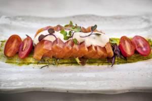 Marinirani losos u sosu od žada i rena, restoran Victor Memimbre