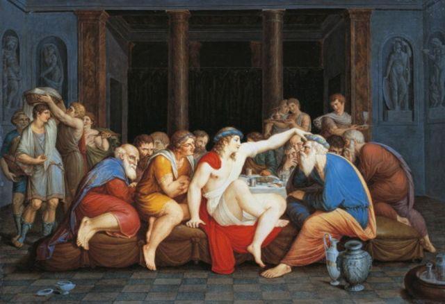 Platonov Simpozijum. Nijednog ekonomiste na vidiku. Foto: DEA/Rapizzi/De Agostini/Getty Images/ Bloomberg