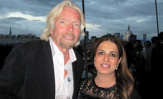 Richard Branson i Namira Salim