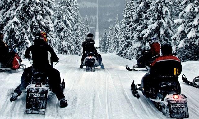 Šuma prosečena na granici Švedske i Norveške: raj za vožnju motornim saonicama
