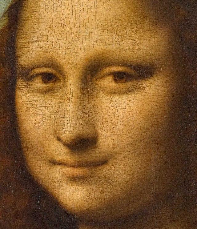 Detalj lica Mona Lize pokazuje upotrebu sfumata, posebno u senčenju oko očiju