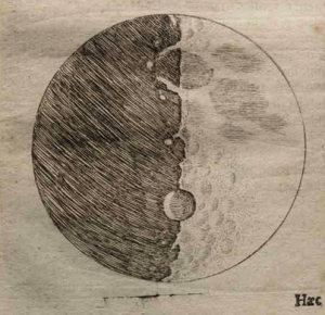 Jedna od prvih Galilejevih skica Mesečeve površine (Octavo Corp./Warnock Library)